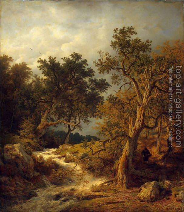 Andreas Achenbach : Landscape with a Stream