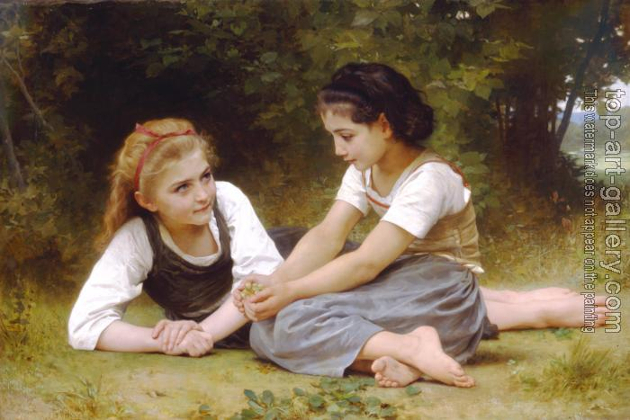 William-Adolphe Bouguereau : Hazelnuts