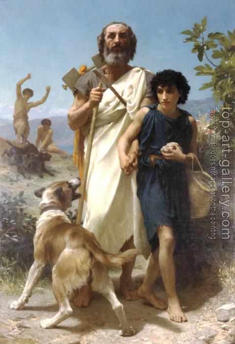William-Adolphe Bouguereau : Homer and his Guide