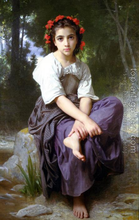William-Adolphe Bouguereau : At the Edge of the Brook