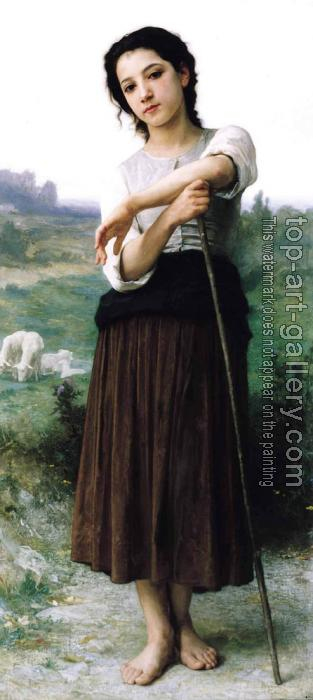 William-Adolphe Bouguereau : Young Shepherdess Standing
