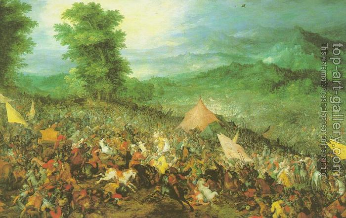 Jan The Elder Brueghel : The Battle of Issus
