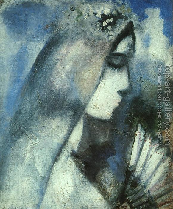 Marc Chagall : Bride with a Fan