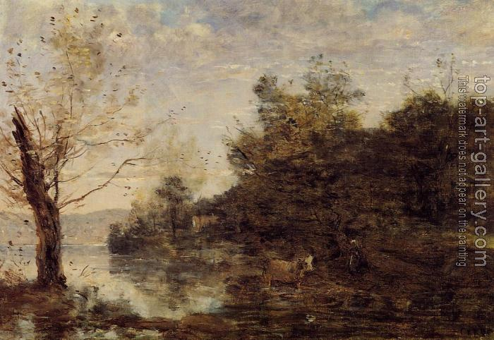Jean-Baptiste-Camille Corot : Cowherd by the Water