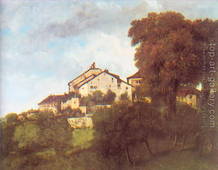 Gustave Courbet : The Houses of the Chateau D'Ornans