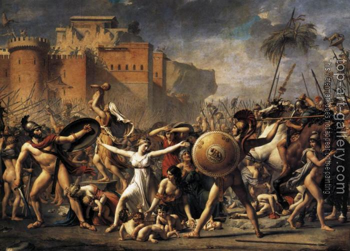 Jacques-Louis David : The Intervention of the Sabine Women