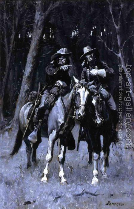 Frederic Remington : Cheyenne Scouts Patrolling the Big Timber of the North Canadian Oklahoma