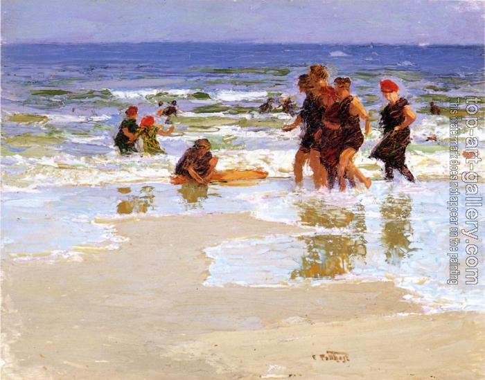 Edward Henry Potthast : At the Seashore