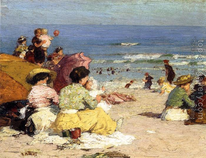 Edward Henry Potthast : Beach Scene