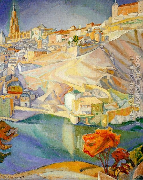 Diego Rivera : View of Toledo,Vista de Toledo
