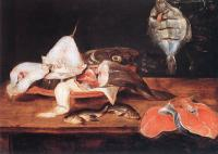 Alexander Adriaenssen : Still-Life with Fish