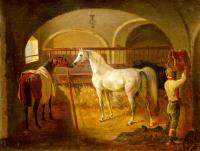 Jacques-Laurent Agasse : Inside the Stable (Stallinneres)