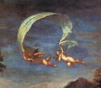 Francesco Albani : Adonis Led by Cupids to Venus, detail of cupids