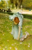 Sir Lawrence Alma-Tadema : Flora: Spring in the Gardens of the Villa Borghese