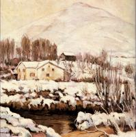 Alexander Altmann : Cottages in a Snowy Landscape