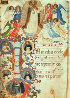 Fra Angelico : Glorification of Saint Dominic, 67v, Missal no. 558, Illuminated Manuscript