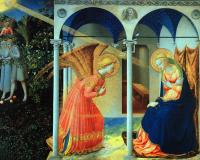 Fra Angelico : The Annunciation, detail