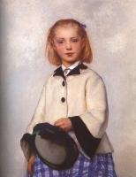 Albert Anker : The Artist's Daughter Louise