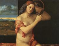 Giovanni Bellini : Naked Young Woman in Front of the Mirror