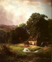 Albert Bierstadt : The Old Mill