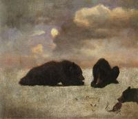 Albert Bierstadt : Grizzly Bears