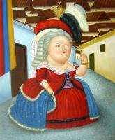 Fernando Botero : Louis XVI And Marie Antoinette on a Visit to Medellin Colombia
