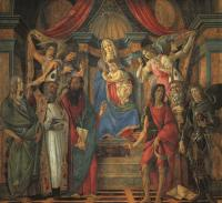 Sandro Botticelli : San Barnaba Altarpiece (Madonna Enthroned with Saints)