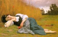 William-Adolphe Bouguereau : Rest at Harvest