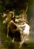 William-Adolphe Bouguereau : Nymphs and Satyr