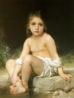 William-Adolphe Bouguereau : Child at Bath