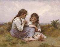 William-Adolphe Bouguereau : Two Girls (Childhood Idyll)