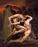 William-Adolphe Bouguereau : Dante and Virgil in Hell