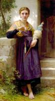 William-Adolphe Bouguereau : The Spinner