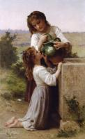 William-Adolphe Bouguereau : At the Fountain