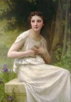 William-Adolphe Bouguereau : Reflexion(Reflection)