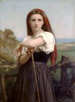 William-Adolphe Bouguereau : Jeune Bergere (Young Shepherdess)