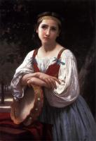 William-Adolphe Bouguereau : Bohemienne au Tambour de Basque (Gypsy Girl with a Basque Drum)
