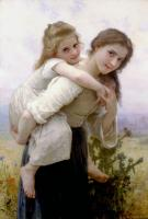 William-Adolphe Bouguereau : Fardeau Agreable , Not too Much to Carry