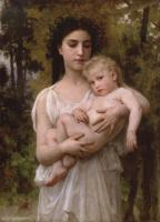 William-Adolphe Bouguereau : Le jeune frere, Little brother