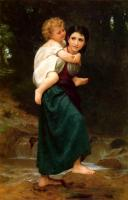 William-Adolphe Bouguereau : Le Passage du gue, The Crossing of the Ford