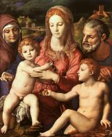 Agnolo Bronzino : Holy Family with St. Anne and the Infant St. John