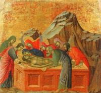 Duccio Di Buoninsegna : Burial of Christ