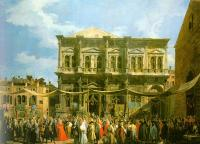 Canaletto : Venice: The Feast Day of St. Roch (The Doge Visiting the Church and the Scuola di San Rocco)