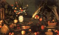 Caravaggio : Still-Life with Flowers and Fruit