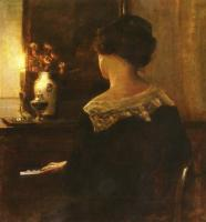 Carl Holsoe : A Lady Playing The Piano