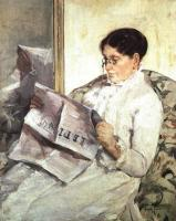 Mary Cassatt : Reading Le Figaro
