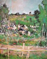 Paul Cezanne : View of Auvers-sur-Oise (The Fence)