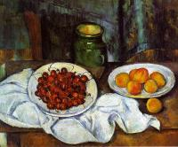 Paul Cezanne : Cherries and Peaches