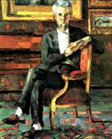 Paul Cezanne : Portrait Of Victor Chocquet Seated
