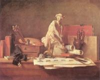 Jean Baptiste Simeon Chardin : The Attributes of the Arts and their Rewards